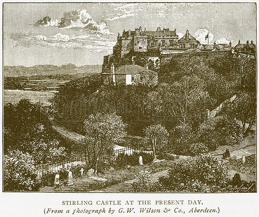 Stirling Castle at the Present Day. Illustration for History of England by HO Arnold-Forster (Cassell, 1897).