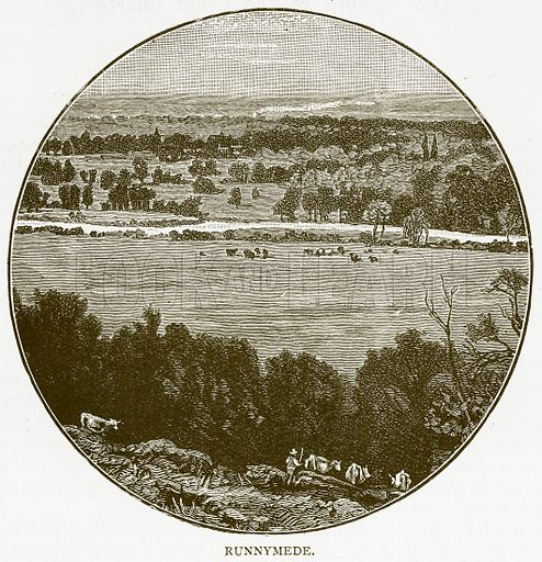Runnymede. Illustration for History of England by HO Arnold-Forster (Cassell, 1897).