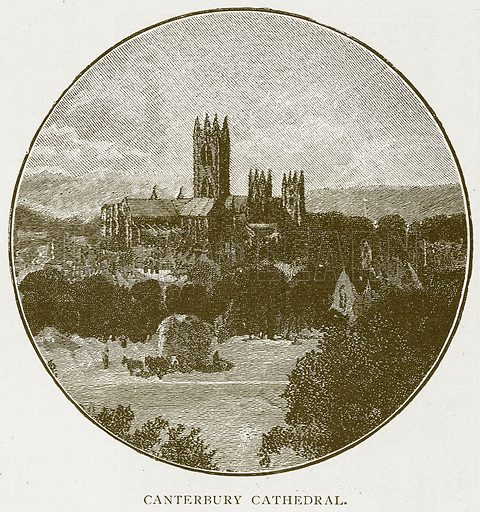 Canterbury Cathedral. Illustration for History of England by HO Arnold-Forster (Cassell, 1897).