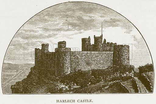 Harlech Castle. Illustration for History of England by HO Arnold-Forster (Cassell, 1897).