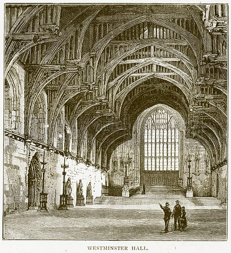 Westminster Hall. Illustration for History of England by HO Arnold-Forster (Cassell, 1897).