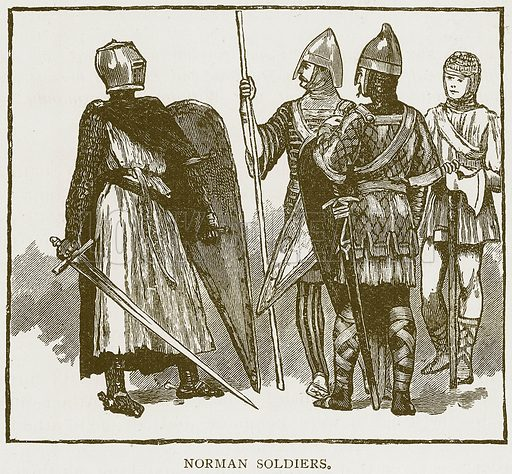 Norman Soldiers. Illustration for History of England by HO Arnold-Forster (Cassell, 1897).