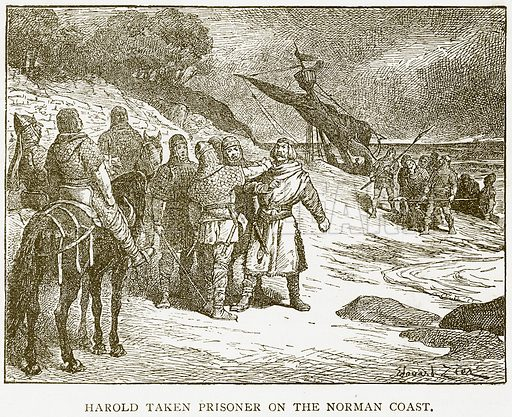Harold taken Prisoner on the Norman Coast. Illustration for History of England by HO Arnold-Forster (Cassell, 1897).