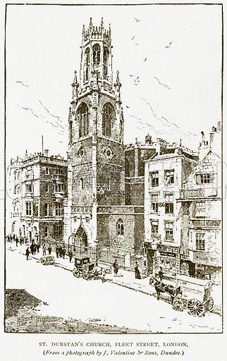 St Dunstan's Church, Fleet Street, London. Illustration for History of England by HO Arnold-Forster (Cassell, 1897).
