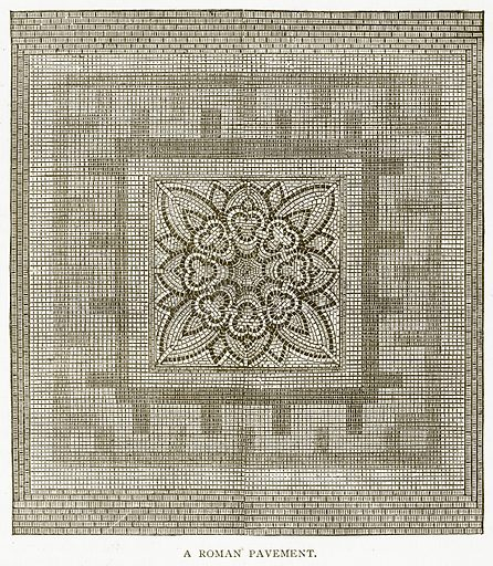 A Roman Pavement. Illustration for History of England by HO Arnold-Forster (Cassell, 1897).