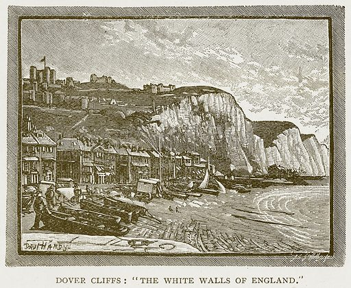 "Dover Cliffs: ""The White Walls of England."" Illustration for History of England by HO Arnold-Forster (Cassell, 1897)."