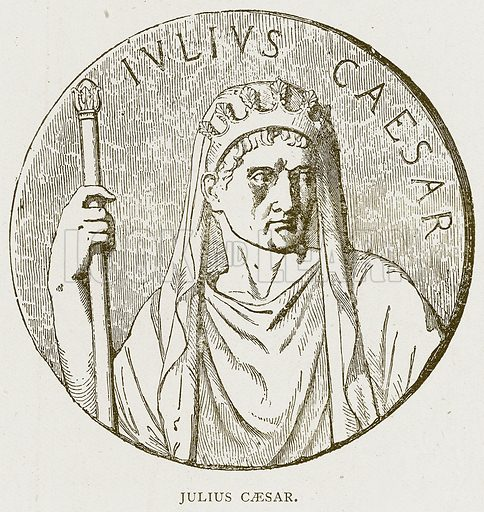 Julius Caesar. Illustration for History of England by HO Arnold-Forster (Cassell, 1897).