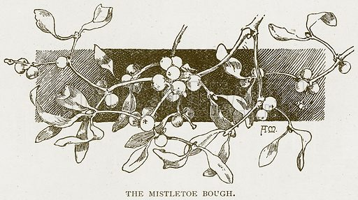 The Mistletoe Bough. Illustration for History of England by HO Arnold-Forster (Cassell, 1897).