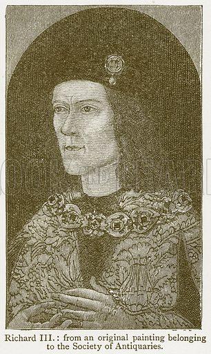 Richard III. Illustration from A Student's History of England by Samuel R Gardiner (Longmans, 1902).