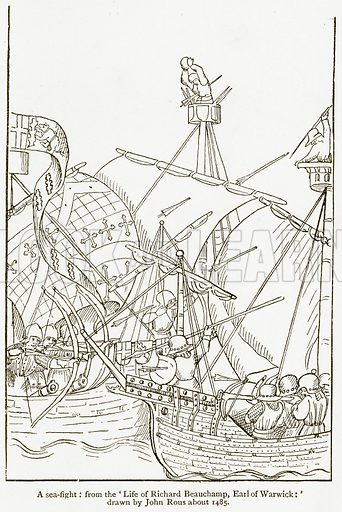 A Sea-Fight. Illustration from A Student's History of England by Samuel R Gardiner (Longmans, 1902).