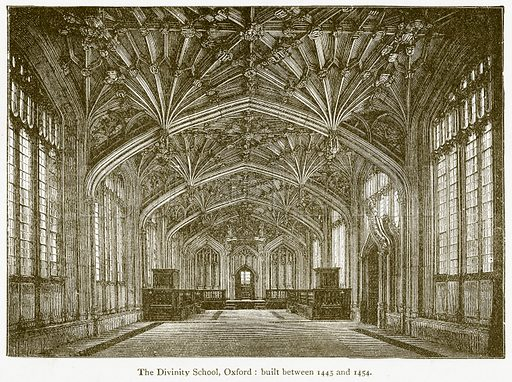 The Divinity School, Oxford: built between 1445 and 1454. Illustration from A Student's History of England by Samuel R Gardiner (Longmans, 1902).