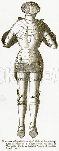 Gilt-Latten Effigy (Back View) of Richard Beauchamp, Earl of Warwick, Died 1439. Illustration from A Student's History of England by Samuel R Gardiner (Longmans, 1902).