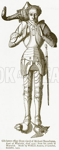 Gilt-Latten Effigy (Front View) of Richard Beauchamp, Earl of Warwick, Died 1439. Illustration from A Student's History of England by Samuel R Gardiner (Longmans, 1902).