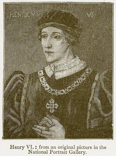 Henry VI. Illustration from A Student's History of England by Samuel R Gardiner (Longmans, 1902).