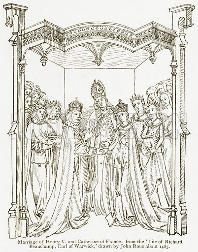Marriage of Henry V and Catherine of France. Illustration from A Student's History of England by Samuel R Gardiner (Longmans, 1902).