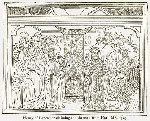 Henry of Lancaster Claiming the Throne. Illustration from A Student's History of England by Samuel R Gardiner (Longmans, 1902).