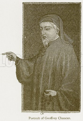 Portrait of Geoffrey Chaucer. Illustration from A Student's History of England by Samuel R Gardiner (Longmans, 1902).
