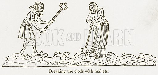 Breaking the Colds with Mallets. Illustration from A Student's History of England by Samuel R Gardiner (Longmans, 1902).