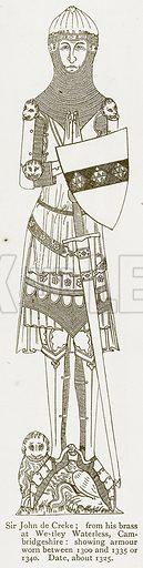 Sir John de Creke. Illustration from A Student's History of England by Samuel R Gardiner (Longmans, 1902).