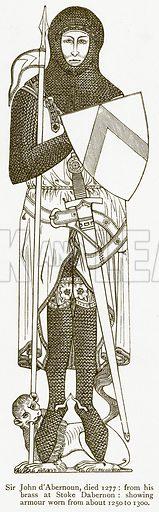 Sir John d'Abernoun, Died 1277. Illustration from A Student's History of England by Samuel R Gardiner (Longmans, 1902).