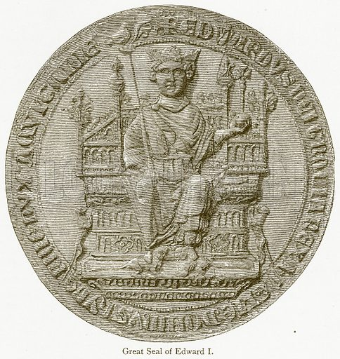 Great Seal of Edward I. Illustration from A Student's History of England by Samuel R Gardiner (Longmans, 1902).