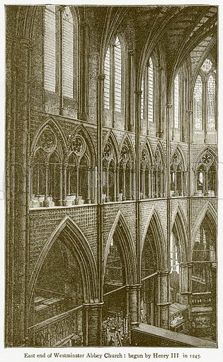 East End of Westminster Abbey Church: Begun by Henry III in 1245. Illustration from A Student's History of England by Samuel R Gardiner (Longmans, 1902).