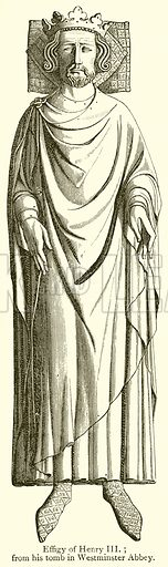 Effigy of Henry III. Illustration from A Student