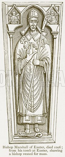 Bishop Marshall of Exeter, Died 1206. Illustration from A Student's History of England by Samuel R Gardiner (Longmans, 1902).