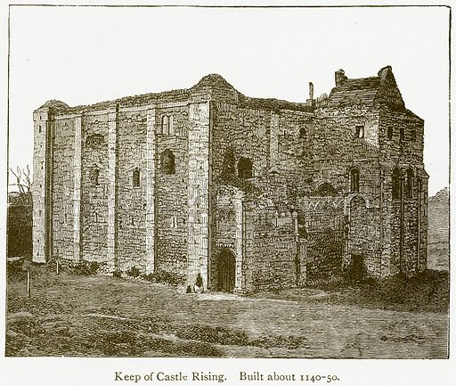 Keep of Castle Rising. Built about 1140–50. Illustration from A Student's History of England by Samuel R Gardiner (Longmans, 1902).