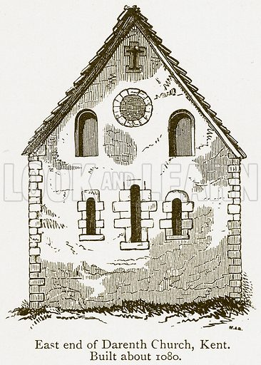 East End of Darenth Church, Kent. Built about 1080. Illustration from A Student's History of England by Samuel R Gardiner (Longmans, 1902).