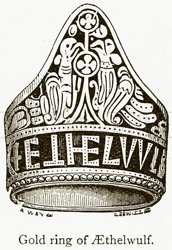 Gold Ring of Aethelwulf. Illustration from A Student's History of England by Samuel R Gardiner (Longmans, 1902).