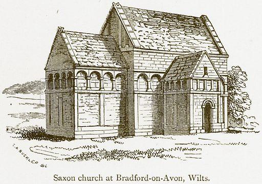 Saxon Church at Bradford-on-Avon, Wilts. Illustration from A Student's History of England by Samuel R Gardiner (Longmans, 1902).