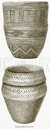 Early British Pottery. Illustration from A Student's History of England by Samuel R Gardiner (Longmans, 1902).