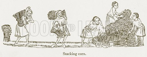 Stacking Corn. Illustration from A Student's History of England by Samuel R Gardiner (Longmans, 1902).