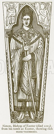 Simon, Bishop of Exeter (Died 1223). Illustration from A Student's History of England by Samuel R Gardiner (Longmans, 1902).