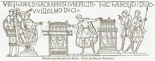 Harold Swearing upon the Relics. Illustration from A Student's History of England by Samuel R Gardiner (Longmans, 1902).