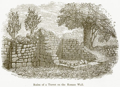 Ruins of a Turret on the Roman Wall. Illustration from A Student's History of England by Samuel R Gardiner (Longmans, 1902).