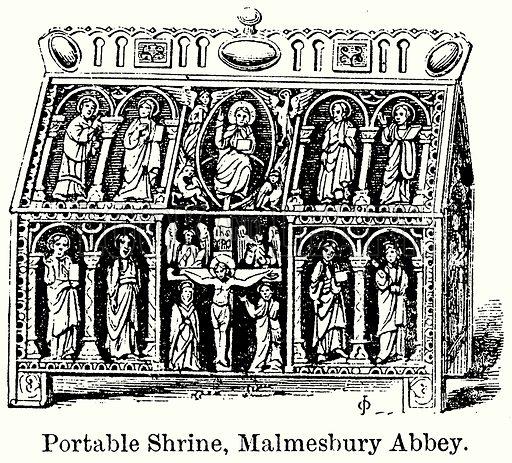 Portable Shrine, Malmesbury Abbey. Illustration for Blackie's Modern Cyclopedia (1899).