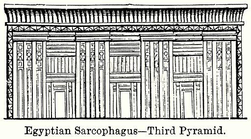 Egyptian Sarcophagus – Third Pyramid. Illustration for Blackie's Modern Cyclopedia (1899).