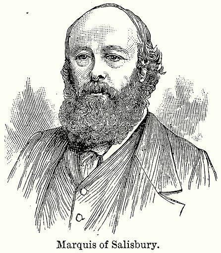 Marquis of Salisbury. Illustration for Blackie's Modern Cyclopedia (1899).