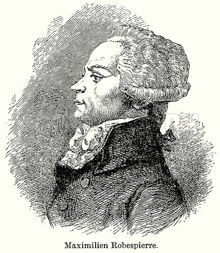 Maximilien Robespierre. Illustration for Blackie's Modern Cyclopedia (1899).