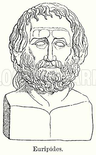 Euripides. Illustration for Blackie's Modern Cyclopedia (1899).