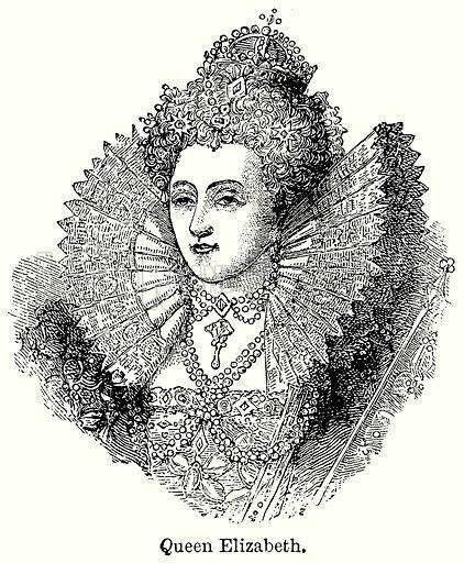 Queen Elizabeth. Illustration for Blackie's Modern Cyclopedia (1899).