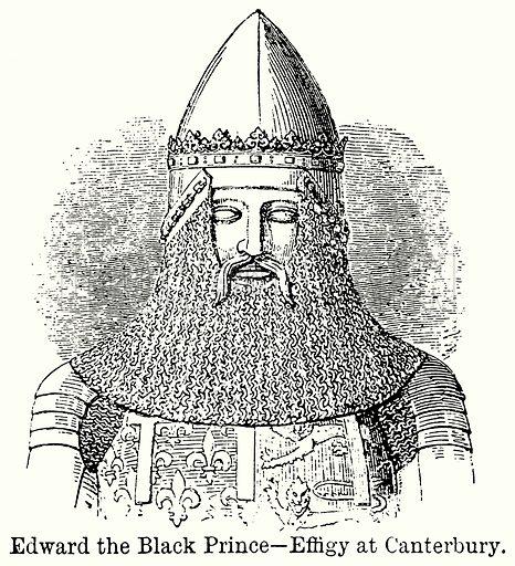 Edward the Black Prince – Effigy at Canterbury. Illustration for Blackie's Modern Cyclopedia (1899).