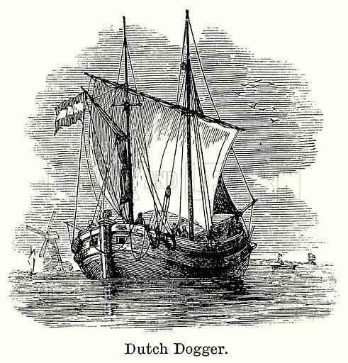 Dutch Dogger. Illustration for Blackie's Modern Cyclopedia (1899).