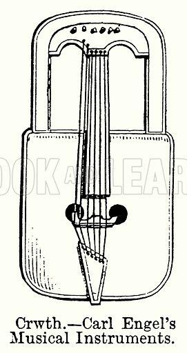 Crwth. – Carl Engel's Musical Instruments. Illustration for Blackie's Modern Cyclopedia (1899).