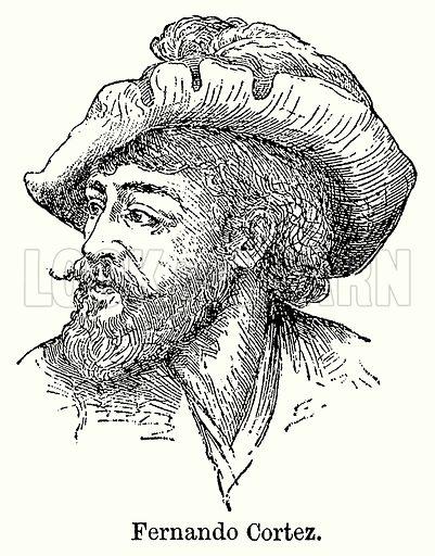 Fernando Cortez. Illustration for Blackie's Modern Cyclopedia (1899).
