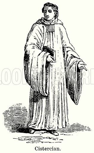 Cistercian. Illustration for Blackie's Modern Cyclopedia (1899).