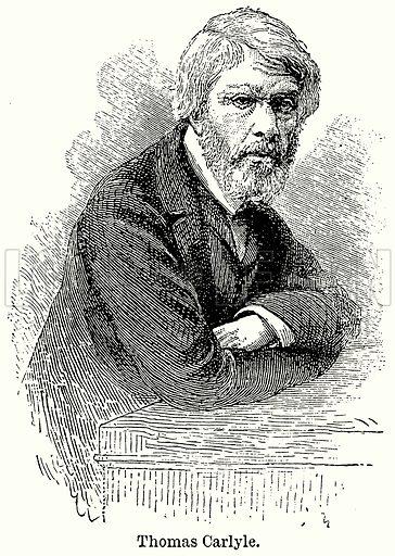 Thomas Carlyle. Illustration for Blackie's Modern Cyclopedia (1899).