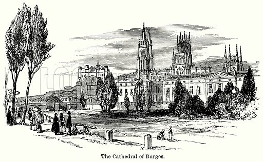 The Cathedral of Burgos. Illustration for Blackie's Modern Cyclopedia (1899).